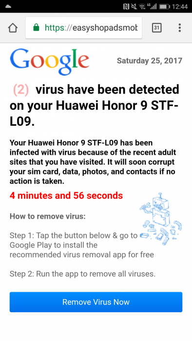 Sports streams. You want free sport but wait! Your phone is infected with a virus!