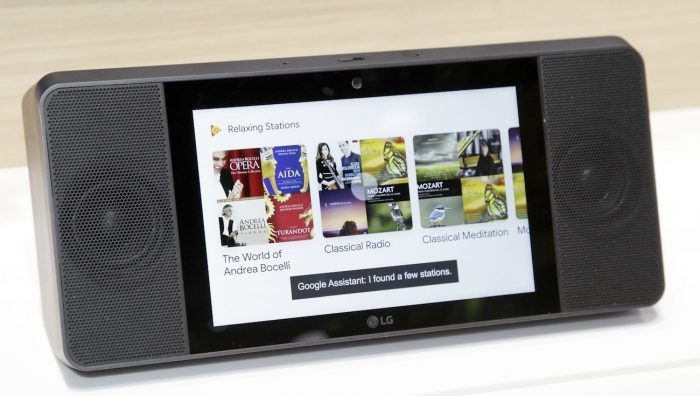 LG ThinQ Google Assistant Touch Screen Speaker 001