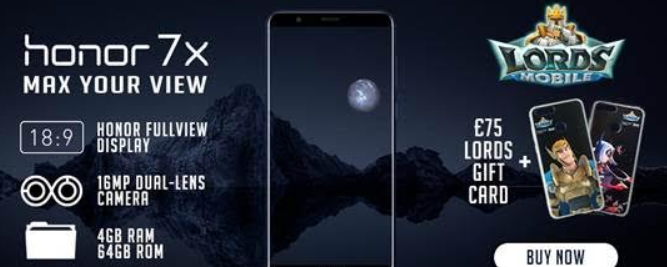 Get an Honor 7X, grab yourself some in game credit and a free case