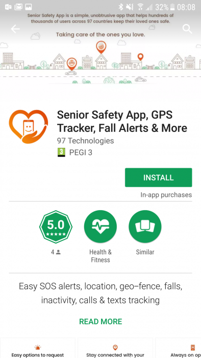 Senior Safety App   Review