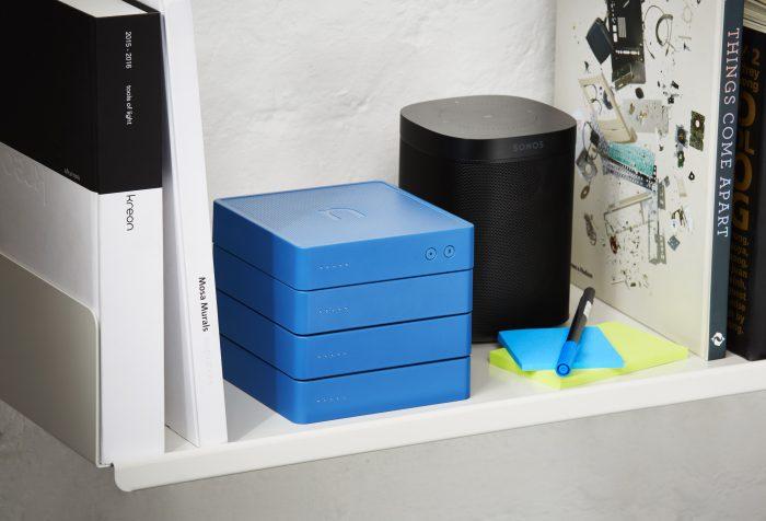 nCube full stack on shelf