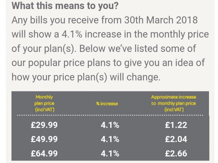 EE to increase prices for many customers