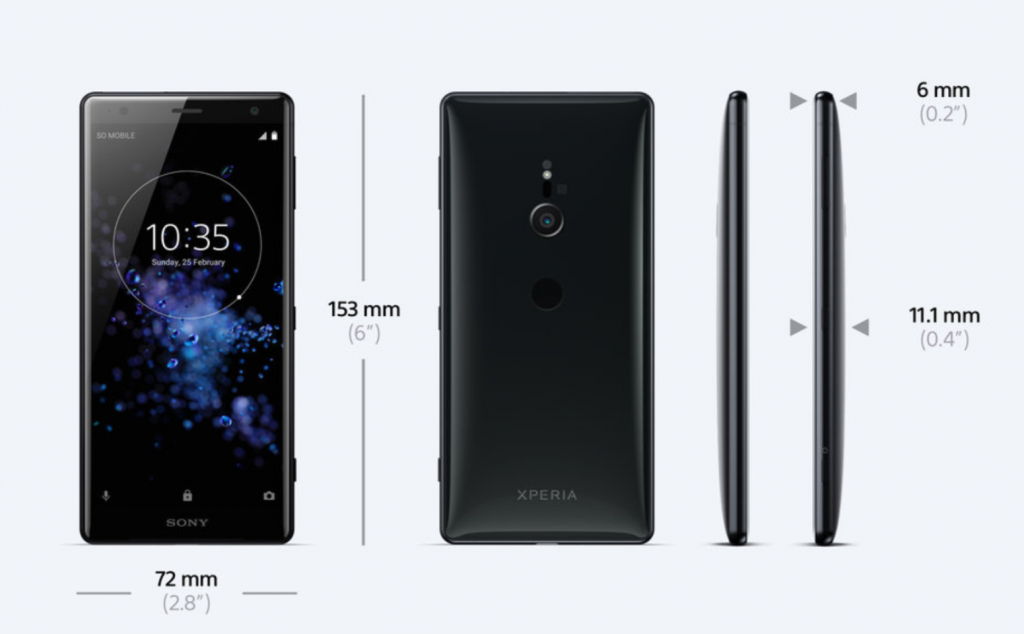 #MWC18 Sony release their new Xperia XZ2 range