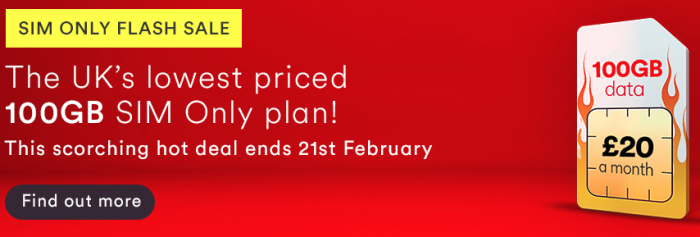 Virgin Media offering a simply massive SIM only deal