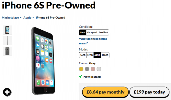 Iphone S Plus Pre Owned Giffgaff