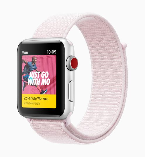 apple watch series3 nike sports pink 032118