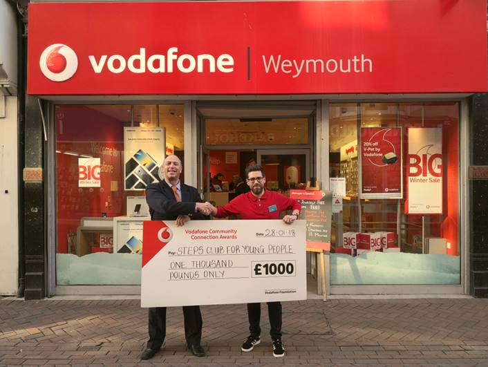 Vodafone help young people with £1000 donation