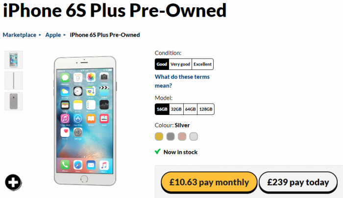 Giffgaff Pre Owned Iphone S