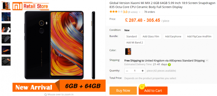 Get yourself a Mi MIX 2 for a nice price