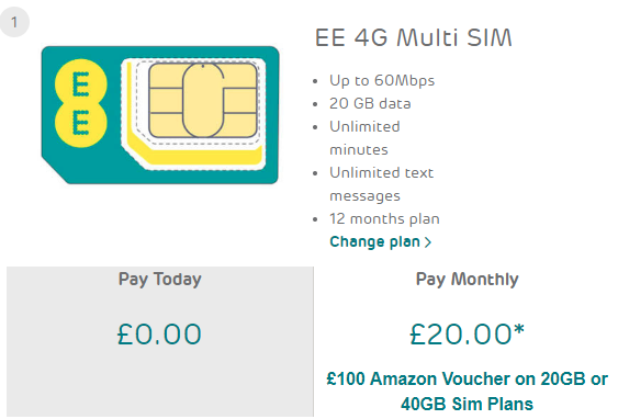 Two hot big data EE SIM only deals.