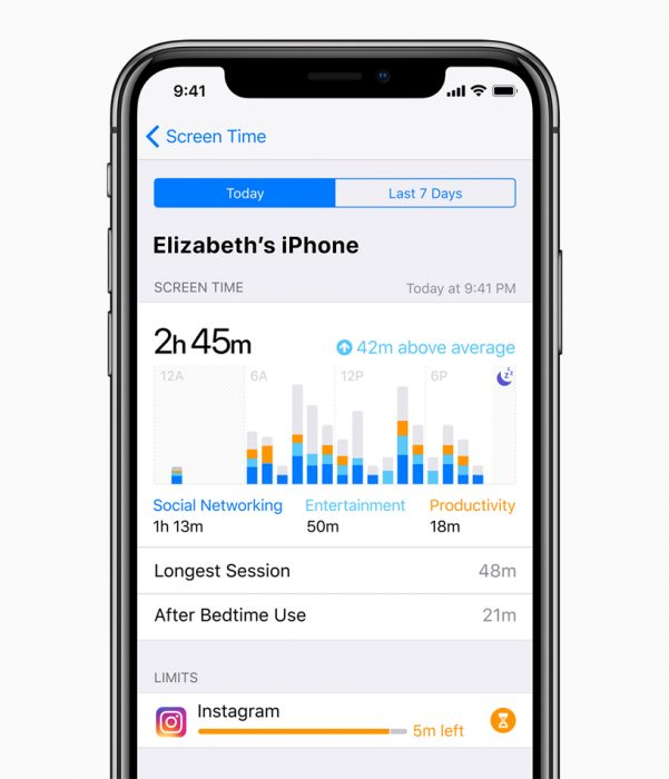 Apple adds addiction protection section