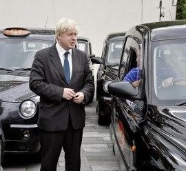 Taxi for David Davis! Taxi for Boris Johnson! Dont worry, theyre all electric.