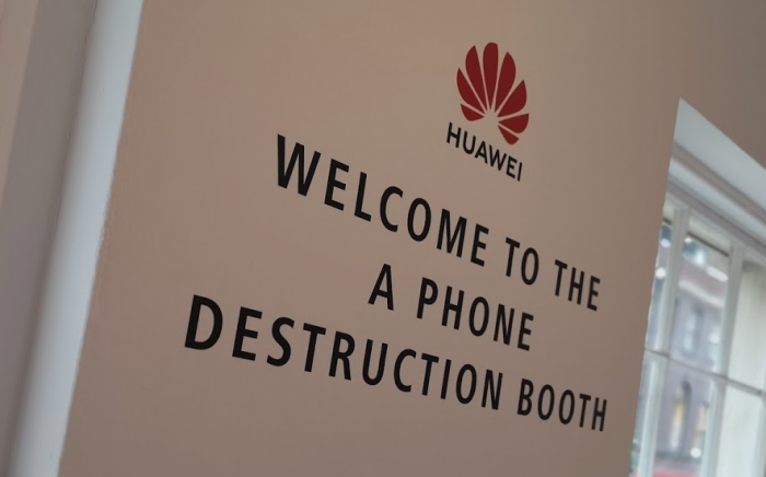 Smash your phone up. Right now. Go on. Huawei want you to.
