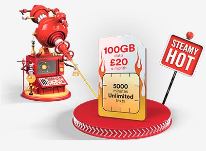 Virgin Mobile SIM only 100GB offer