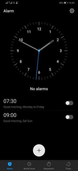 Screenshot 20181020 134931 com.android.deskclock