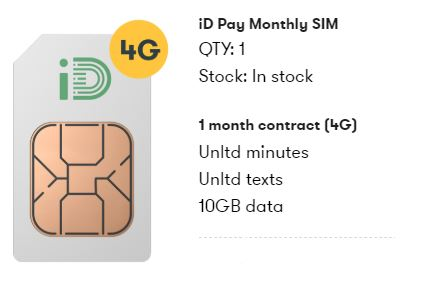10GB iD Mobile SIM only deal for your Friday