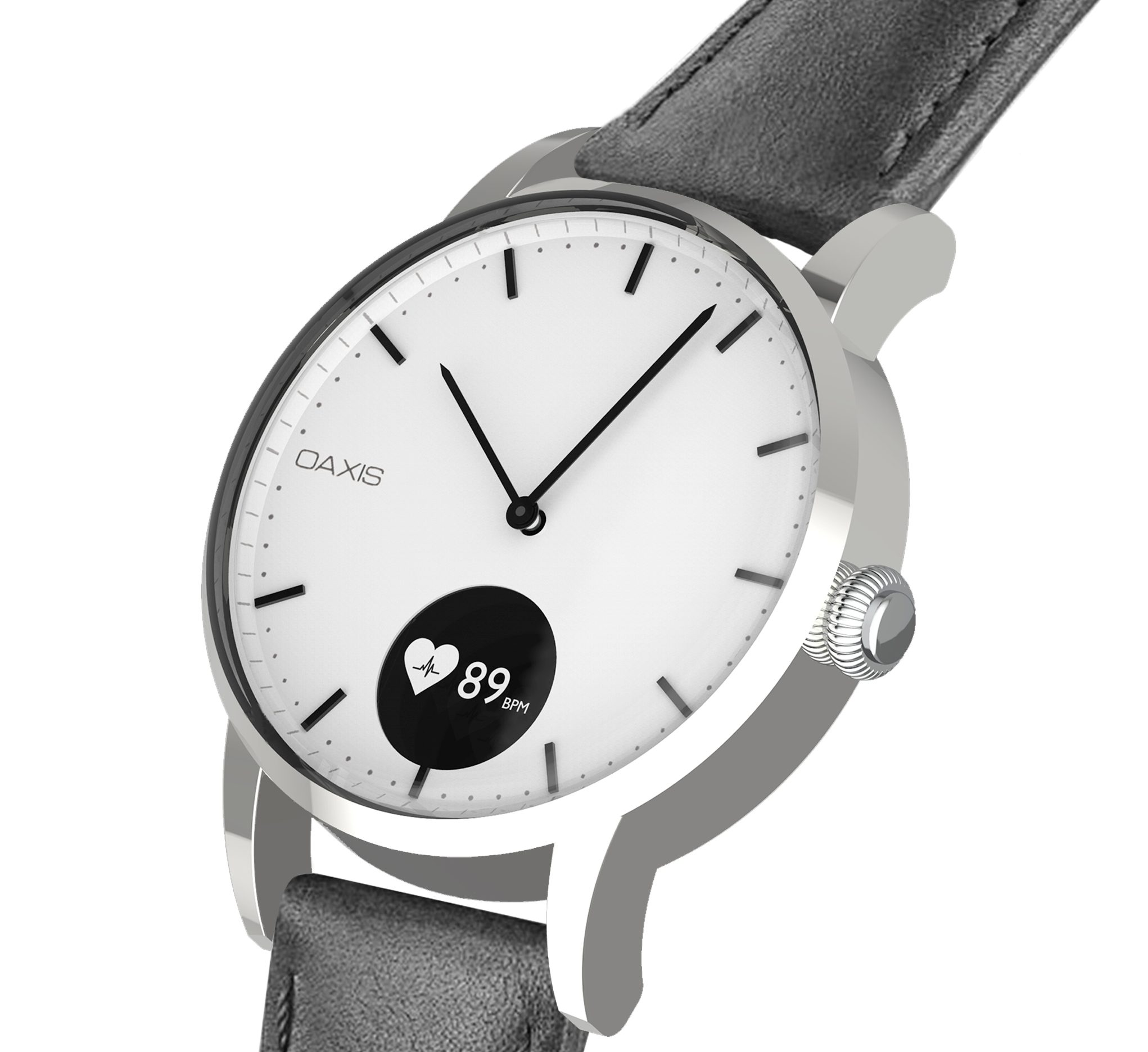 aeec974eb Oaxis brings Timepiece, a minimalist analogue watch with heart rate monitor  to Kickstarter