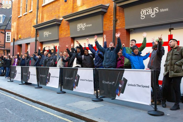 Fans travel miles to get hands on OnePlus 6T