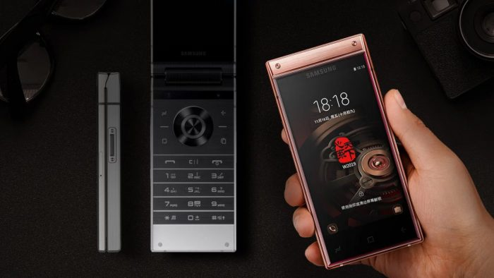Samsung releases a new high end flip phone.