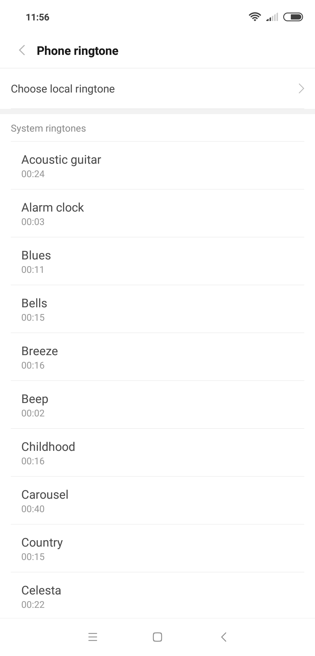 how to set a custom ringtone in android