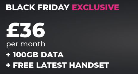 Fonehouse and Vodafone Black Friday deals. £36 p/m with a free phone