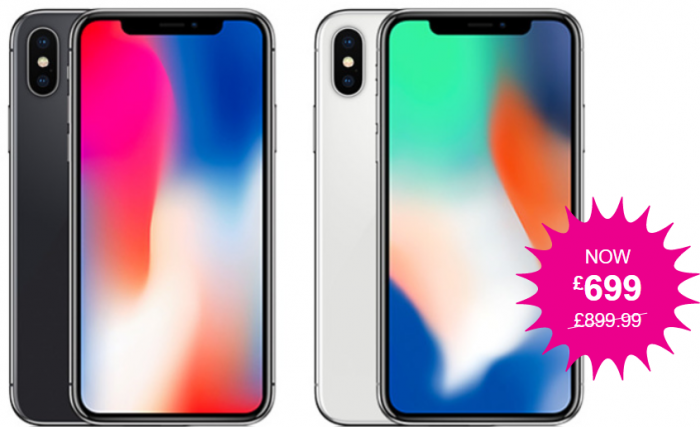 iPhone X   Get one for £699