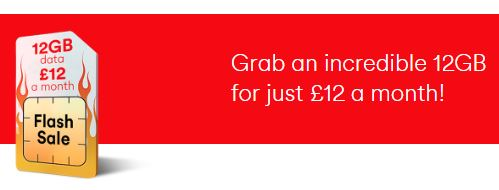 Virgin Mobile   12GB for £12 per month deal