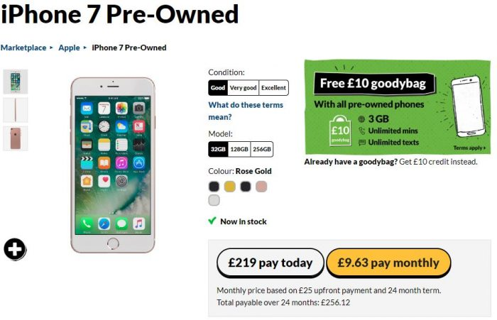Unlocked pre owned iPhone 7   £219