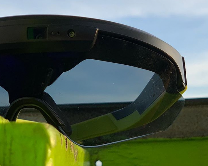 Cycling glasses with a HUD. Meet Raptor.