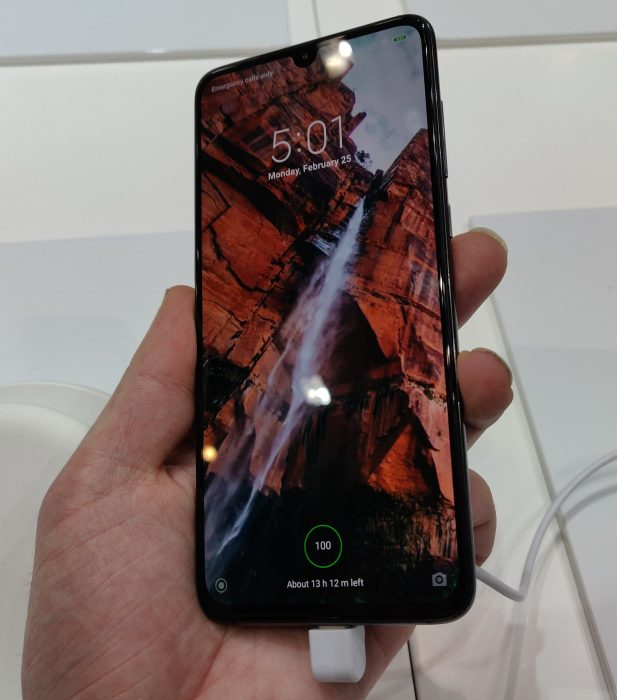 MWC   Up close. The Xiaomi Mi 9