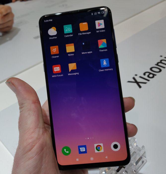 MWC   Up close. The Xiaomi Mi Mix 3