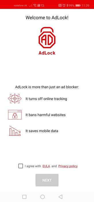 Block ads from sites and apps too. AdLock.