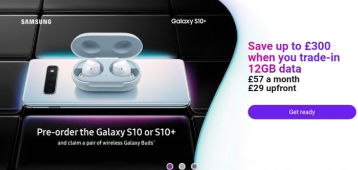 Three UK start S10 pre orders