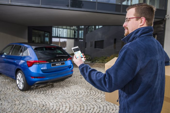 Skoda testing deliveries direct to your boot