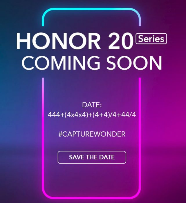 New HONOR 20 Series incoming