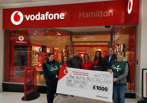 Vodafone donates another £1,000 to local charity