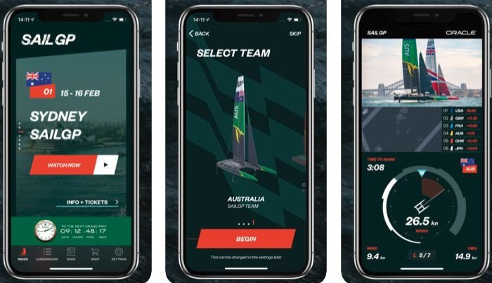 Watch the Formula 1 of sailing on your iPhone