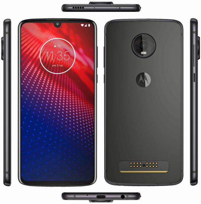 Moto Z4 makes an appearance.