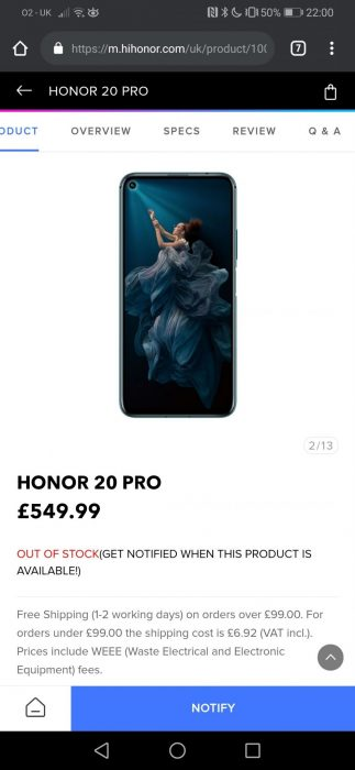 Honor 20 Pro   Hands on