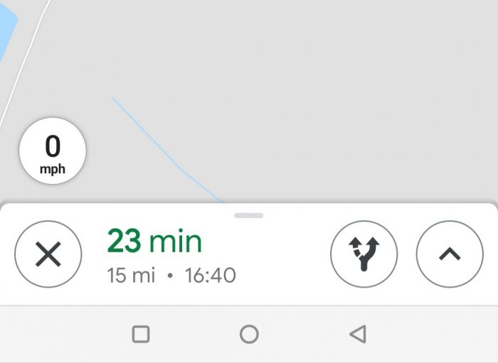 Google Maps   Now with a speedometer