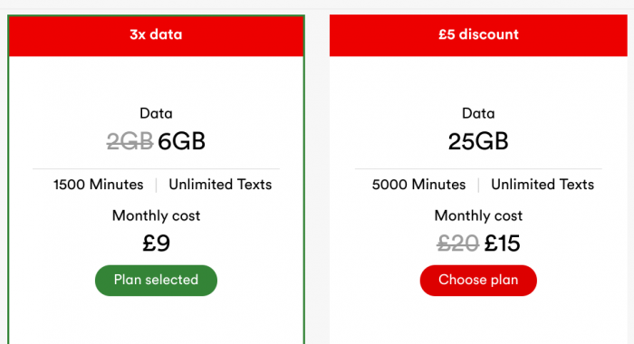 Virgin Mobile SIM only deals. £9 for 6GB and more