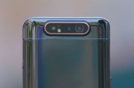 Samsung Galaxy A80   Rotate and rise camera in action